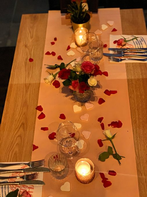 table setting for love